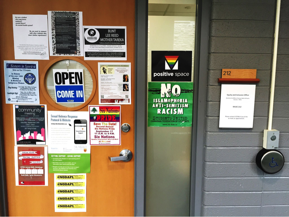 McMaster Equity and Inclusion Office Door